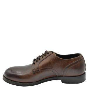 Dolce and Gabbana Brown Leather Derby Shoes Size EU 41