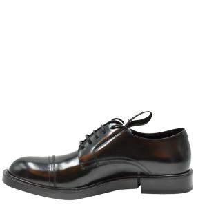 Dolce & Gabbana Black Leather Derby Shoes Size EU 40
