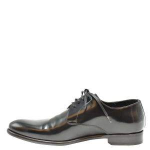 Dolce & Gabbana Black Leather Lace up Derby Shoes Size EU 40.5