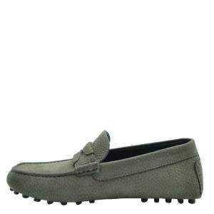 Dolce & Gabbana Green Leather Genova Loafers Size EU 44