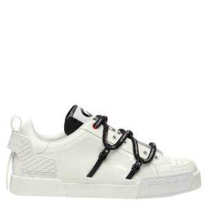 Dolce & Gabbana White Portofino logo-embossed Sneakers Size IT 41