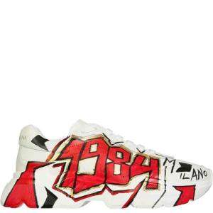 Dolce & Gabbana Multicolour Handpainted Daymaster Sneakers Size IT 39