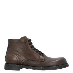 Dolce & Gabbana Dark Brown Horsehide Boots Size 45