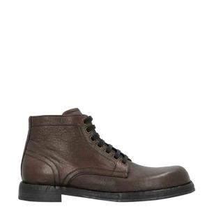 Dolce & Gabbana Dark Brown Horsehide Boots Size EU 43.5