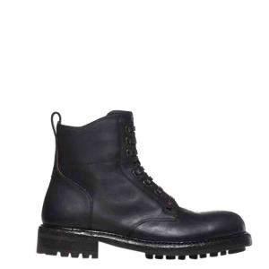 Dolce & Gabbana Black Leather Lace up Boots Size EU 40