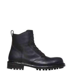 Dolce & Gabbana Black Leather Bernini Boots Size EU 41.5