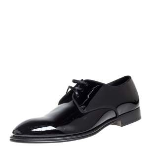 Dolce & Gabbana Black Patent Leather Derby Size 41