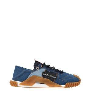 Dolce & Gabbana Blue NS1 Denim Patchwork Sneakers Size EU 42
