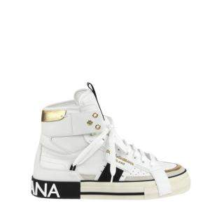 Dolce & Gabbana White 2Zero High Top Sneakers Size EU 41