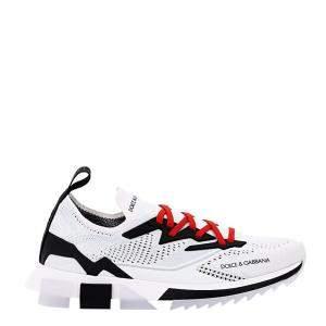 Dolce & Gabbana White/Black Sorrento Slip-on Sneakers Size IT 41