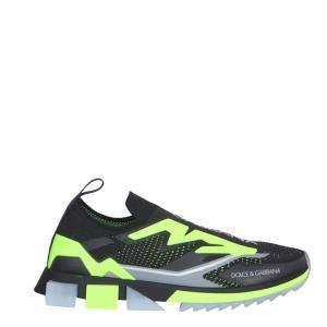 Dolce & Gabbana Black/Green Sorrento Slip-on Sneakers Size IT 41