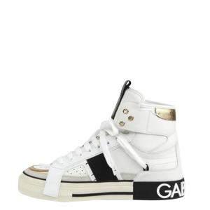 Dolce & Gabbana White High Top 2.Zero Sneakers Size EU 39