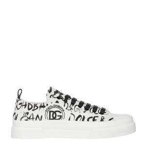 Dolce & Gabbana White Leather Portofino Light DG Logo Sneakers Size EU 40