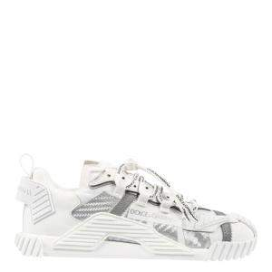 Dolce & Gabbana White Mixed Materials NS1 Sneakers Size EU 41.5