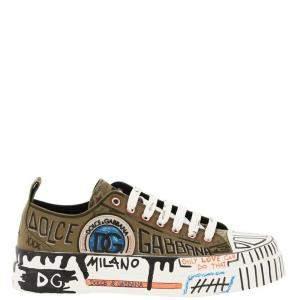 Dolce & Gabbana Multicolor Hand-Painted Portofino Light Sneakers Size IT 41