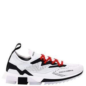 Dolce & Gabbana White Sorrento Mesh Slip On Sneakers Size IT 44