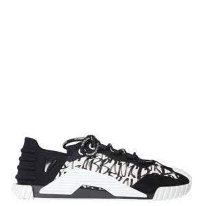 Dolce & Gabbana Black/White Mixed-Materials NS1 Sneakers Size IT 41