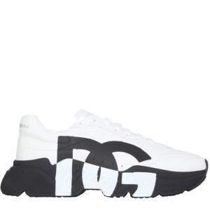 حذاء رياضي دولتشي آند غابانا داي ماستر جلد أسود / أبيض مقاس إيطالي 41