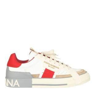 Dolce & Gabbana Multicolor Calfskin Custom 2.Zero Sneakers Size IT 40