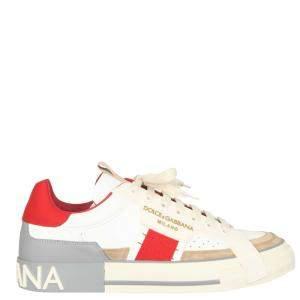 Dolce & Gabbana White/Red Custom 2.Zero Sneakers Size IT 43