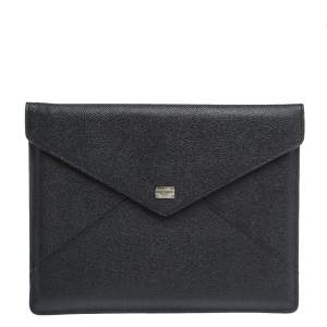 Dolce & Gabbana Black Leather iPad Envelope Case