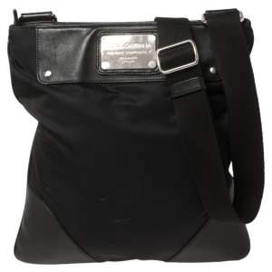 Dolce & Gabbana Black Nylon and Leather Messenger Bag
