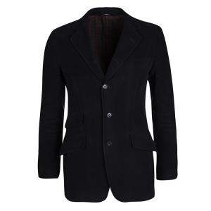 Dolce & Gabbana Navy Blue Cotton Tailored Blazer S