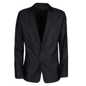 Dolce & Gabbana Black Wool Silk Tailored Martini Blazer XL