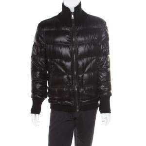 Dolce & Gabbana Black Quilted Bomber Jacket M