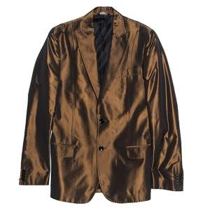 Dolce & Gabbana Metallic Brown Double Buttoned Blazer S