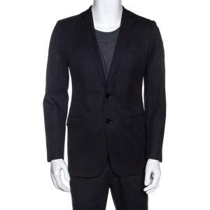 Dolce & Gabbana Black Cotton Two Buttoned Blazer S