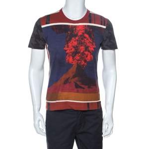 Dolce & Gabbana Multicolor Erupting Volcano Print Cotton T-Shirt S