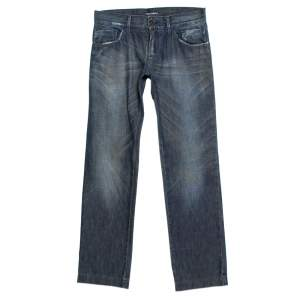 Dolce & Gabbana Blue Medium Wash Denim Straight Leg Jeans S