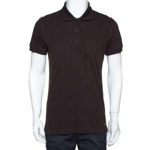 Dolce & Gabbana Brown Cotton Polo T-Shirt M