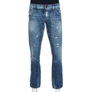 Dolce & Gabbana Blue Light Wash 12 Gold Fit Denim Jeans L