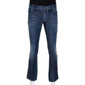 Dolce & Gabbana Blue Medium Wash Denim 14 Gold Fit Jeans S