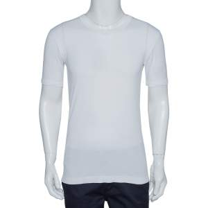 Dolce & Gabbana White Cotton Round Neck T-Shirt S