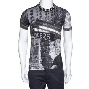 Dolce & Gabbana Grey Marilyn Monroe Print Cotton T-Shirt XS