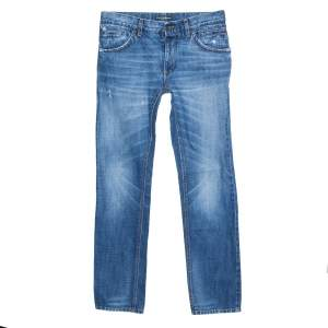 Dolce & Gabbana Blue Medium Wash Denim Distressed Jeans S