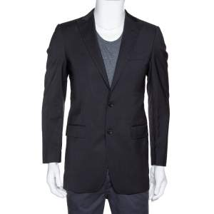 Dolce & Gabbana Black Wool Tailored Jacket XS