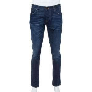 Dolce & Gabbana 14 Gold Blue Denim Straight Leg Jeans XL