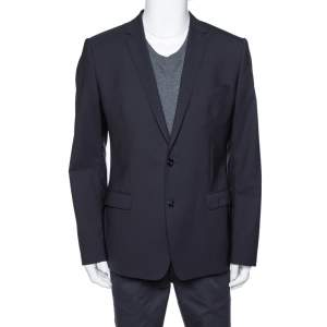 Dolce & Gabbana Navy Blue Wool Martini Tailored Jacket XL