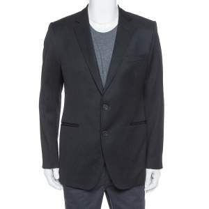Dolce & Gabbana  Black Wool Tailored Sports Jacket XL