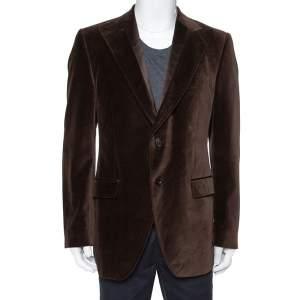 Dolce & Gabbana Brown Velvet Blazer XL