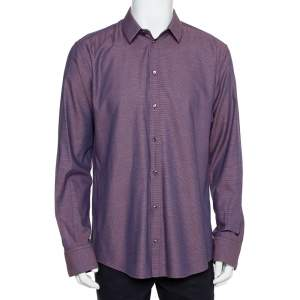 Dolce & Gabbana Bicolor Cotton Button Front Martini Shirt 3XL