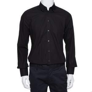 Dolce & Gabbana Black Cotton Button Front Shirt L
