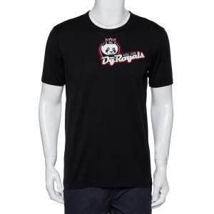 Dolce & Gabbana Black DG Royals Patch Cotton Crewneck T-Shirt XL