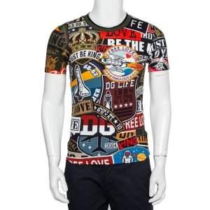 Dolce & Gabbana Multicolor Multiprinted Cotton Crewneck T-Shirt S