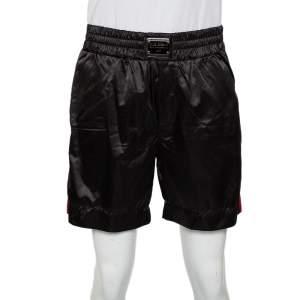 Dolce & Gabbana Black Synthetic Side Strip Detail Shorts XL