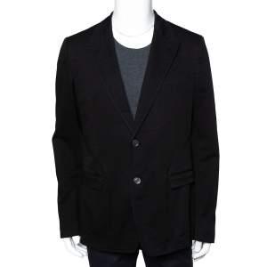 Dolce & Gabbana Black Denim Button Front Blazer XXL
